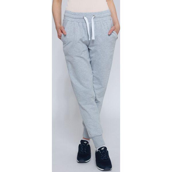ff61fefa44dc3 Spodnie dresowe damskie SPDD300 - chłodny jasny szary - Szare ...