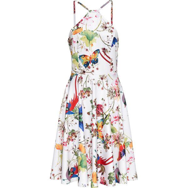 6e86c00e95 Sukienka w motyle bonprix biały z nadrukiem - Sukienki damskie marki ...