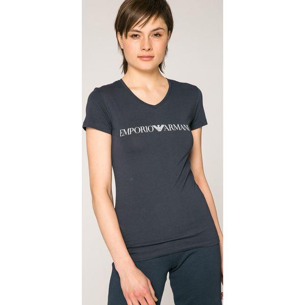 7d7feda906c42 Emporio Armani - Top - Szare t-shirty damskie marki Emporio Armani ...