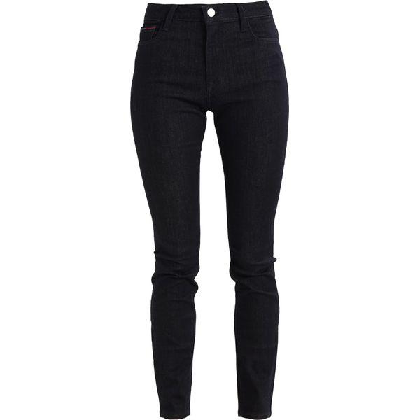 fc80e701342ec Tommy Jeans HIGH RISE SANTANA Jeans Skinny Fit black denim - Czarne ...