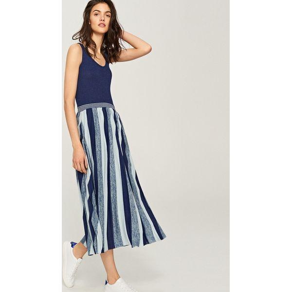 5427c3dc0b Sukienka midi - Granatowy - Niebieskie sukienki damskie marki ...