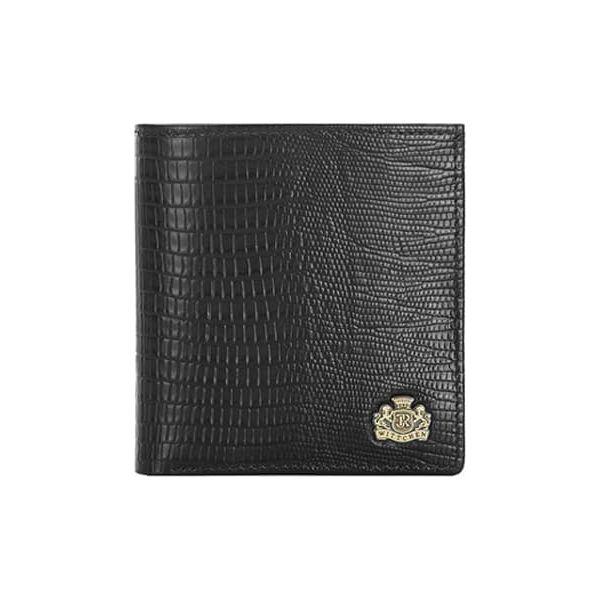 40e4ec2c21603 Skórzany portfel w kolorze czarnym - (D)10 x (S)9