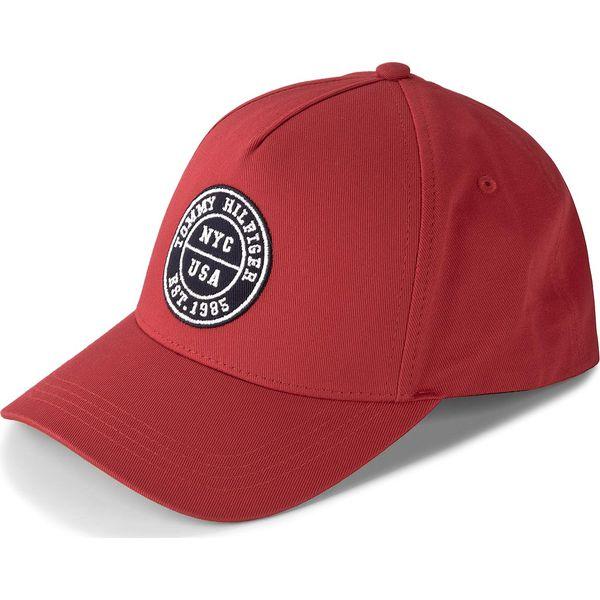 a336f77c3 Czapka TOMMY HILFIGER - Varsity Cap AM0AM03027 614 - Czerwone czapki z  daszkiem damskie marki Tommy Hilfiger, z bawełny. Za 179.00 zł.