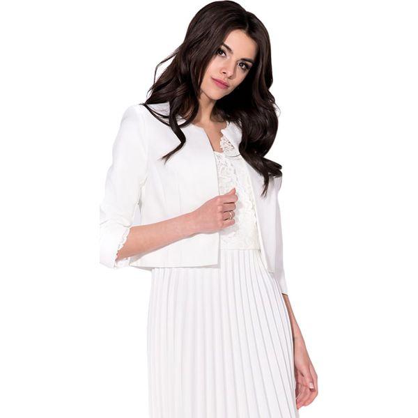 61fd705358715 Żakiet w kolorze białym - Butik - Modne ubrania, buty, dodatki dla ...