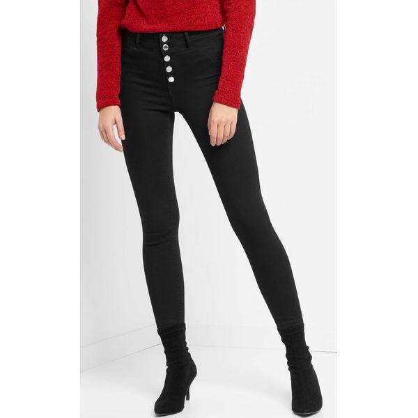 8c2285727ef9cd Jegginsy z wysokim stanem - Czarne jeansy damskie Orsay, z bawełny. Za  99.99 zł. - Jeansy damskie - Spodnie damskie - Odzież damska - Butik -  Modne ubrania, ...