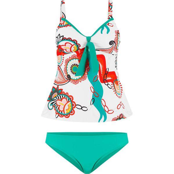 05b4cf156d170e Tankini (2 części) bonprix kremowy z nadrukiem - Bikini marki ...