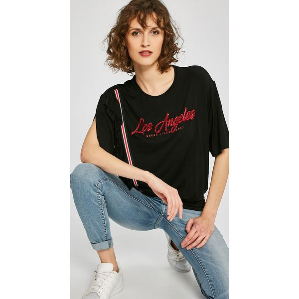 c7147d6ba98cd Guess Jeans - Top Los Angeles - Szare t-shirty damskie marki Guess ...