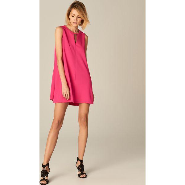 5d0a16583f Sukienka z wycięciem przy dekolcie - Różowy - Czerwone sukienki ...