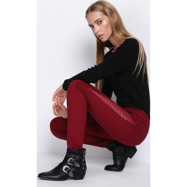 a7dbf9176fde Bordowe Spodnie Want Some More - Rurki damskie marki Born2be. Za ...