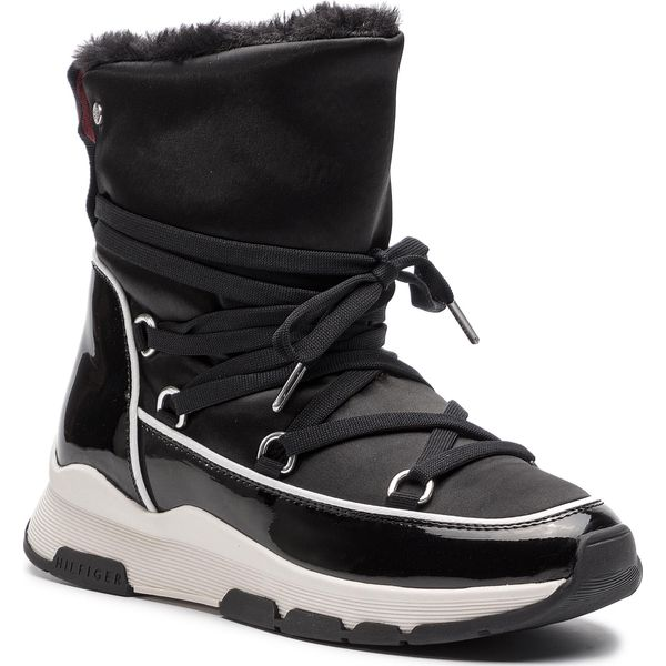 941cb14366397 Buty TOMMY HILFIGER - Cool Technical Satin Winter Boot FW0FW03697 ...