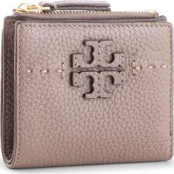 a8fef6f2d9873 Mały Portfel Damski TORY BURCH - Mcgraw Mini Foldable Wallet 45246 Silver  Maple 963. Portfele