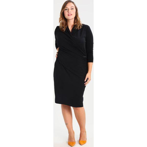b3c62123d Lauren Ralph Lauren Woman Sukienka etui polo black - Czarne sukienki ...