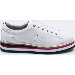 70f18c9d Tommy Hilfiger - Buty. Szare obuwie sportowe casual damskie Tommy Hilfiger,  z materiału.