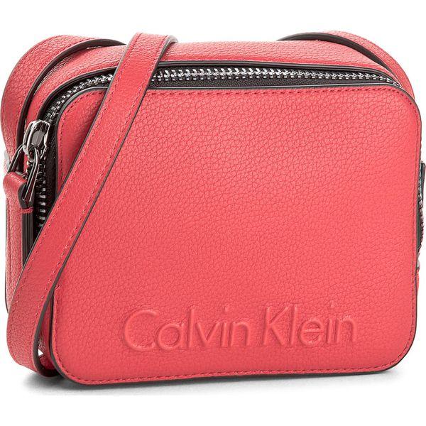 b9914994cfa56 Torebka CALVIN KLEIN - Edge Small Crossbody K60K604004 618 - Czerwone  listonoszki damskie marki Calvin Klein