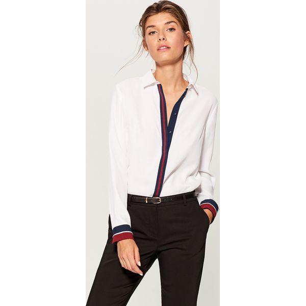 1518b9d7cbfd67 Koszula z kontrastowym zdobieniem - Biały - Koszule damskie Mohito ...
