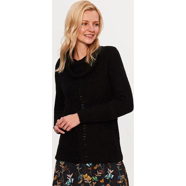 8b9419b36192c Sweter w kolorze czarnym - Swetry klasyczne damskie marki TATUUM. W ...
