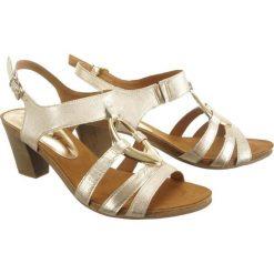 Caprice sandały skórzane beżowelemon