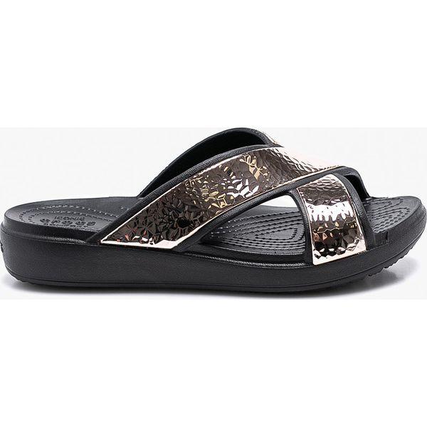298bf69ffa959 Crocs - Klapki - Czarne klapki damskie marki Crocs, z gumy. W ...