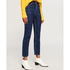 9a35c887635be Jeansy z prostymi nogawkami - Granatowy. Jeansy damskie marki Reserved. W  wyprzedaży za 49.99