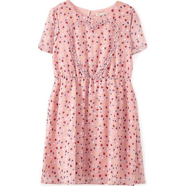 a6cd8ad606 Sukienka w kolorze jasnoróżowym - Czerwone sukienki dziewczęce marki ...