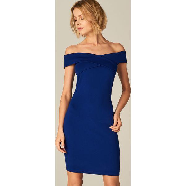 a449e2ca2c Sukienka ze zmysłowym dekoltem - Niebieski - Sukienki damskie marki ...