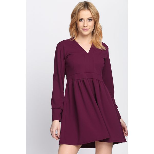 50f7615177 Ciemnofioletowa Sukienka Develop a Love - Fioletowe sukienki damskie ...