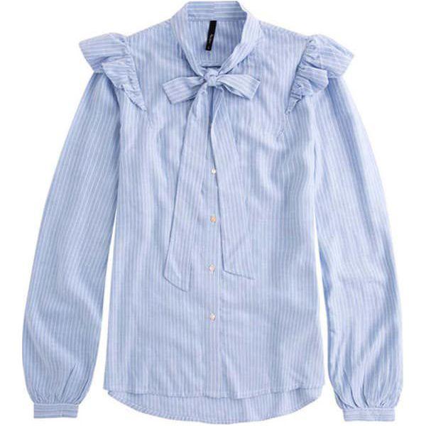 1d56051dbd1d05 Koszula w kolorze błękitnym ze wzorem - Koszule damskie marki Pepe ...