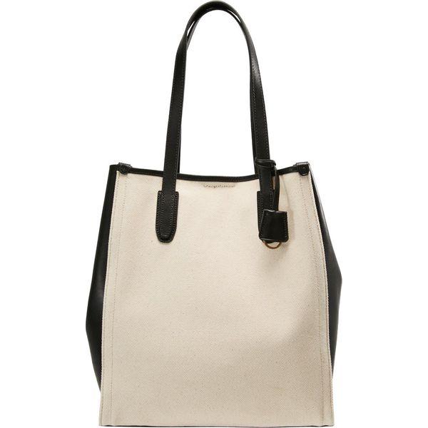 7bccdba8805658 J.CREW TRIM BOROUGH TOTE Torba na zakupy natural black - Shopper bag ...