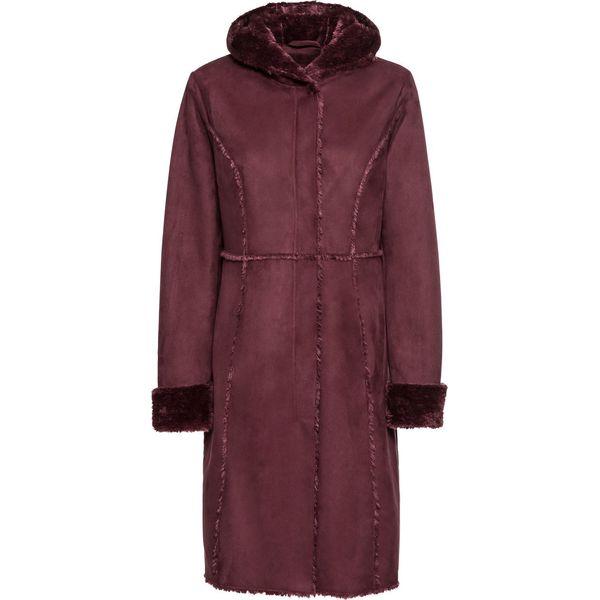 4a3c87c1a4ab5 Płaszcz ze sztucznego futerka owczego bonprix czerwony klonowy ...