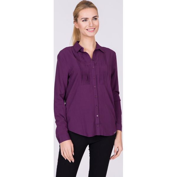 eb0726ab Fioletowa koszula z plisą QUIOSQUE