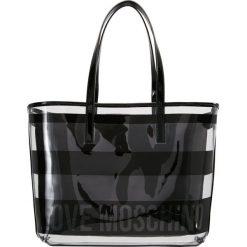 a56d7d62cc298 Love Moschino TRANSPARENT LOGO BEACH BAG Torebka nero. Czarne shopper bag  marki Love Moschino.