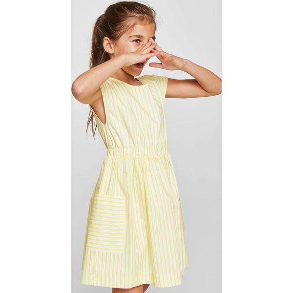 7736489f02 Mango Kids - Sukienka dziecięca Montouk 110-152 cm - Szare sukienki  dziewczęce marki Mango Kids