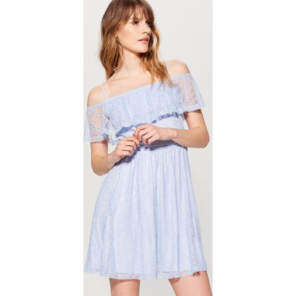 b0779ba4 Koronkowa sukienka hiszpanka - Niebieski