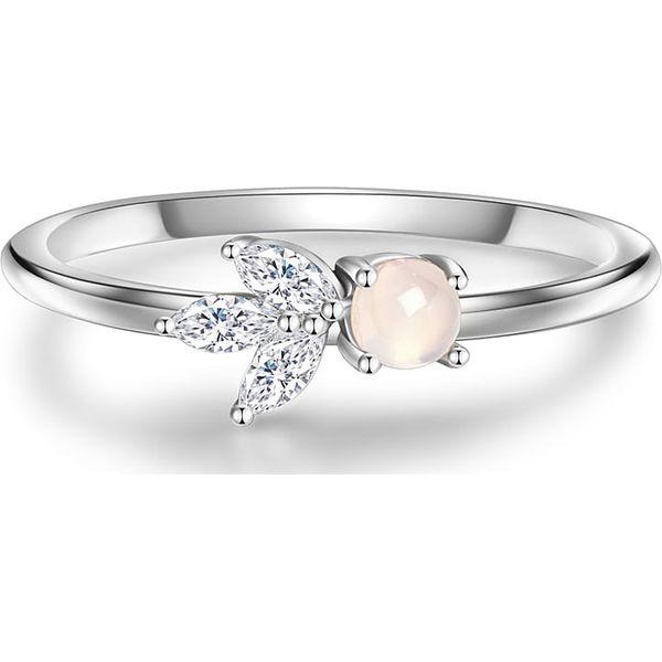dd657e58e1ea51 Srebrny Pierścionek Z Kamieniem Księżycowym I Górskimi Kryształami