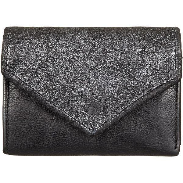 75ddeadf00fc7 Skórzany portfel w kolorze czarnym - 13 x 10 x 2 cm - Czarne ...