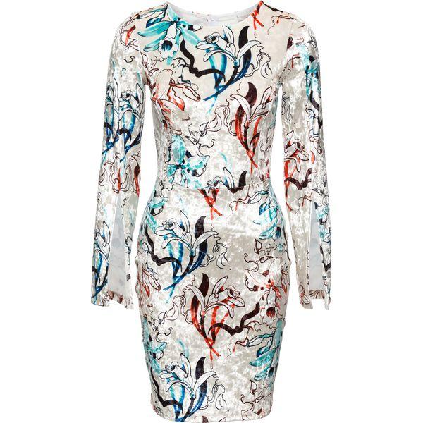545d3f288d Sukienka z materiału w optyce jedwabiu bonprix biały - Białe ...
