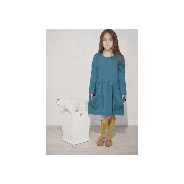 3eb41fa2c7 Sukienka z dużymi kieszeniami - Sukienki dziewczęce marki Aqademia ...