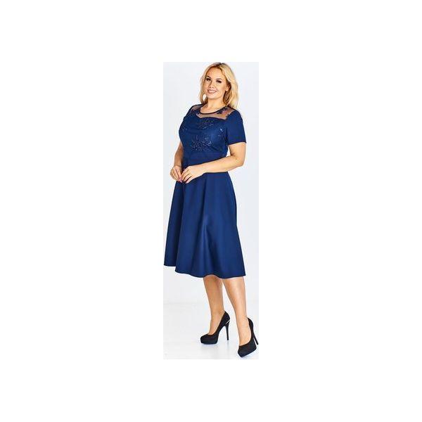 b0c235faa2 Elegancka sukienka z wyszywaną górą i lekko rozkloszowanym dołem ...