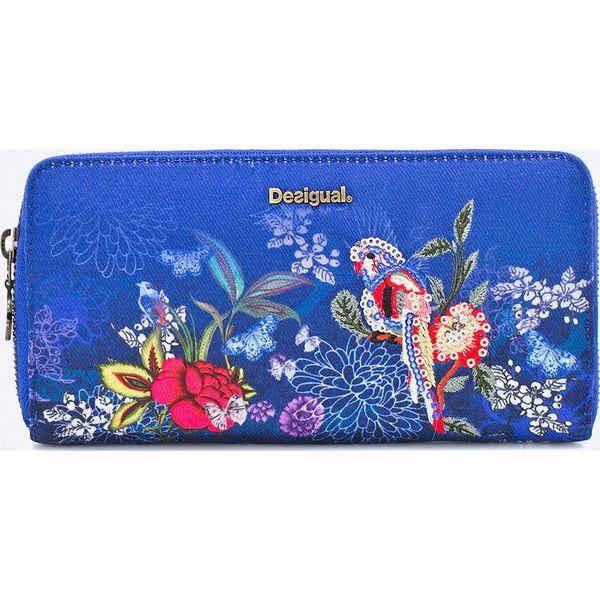 90e1b0eb7981f Desigual - Portfel Fiona - Niebieskie portfele damskie marki ...