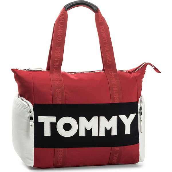 1731dcece732c Torebka TOMMY HILFIGER - Tommy Nylon Tote AW0AW04957 901 - Shopper ...