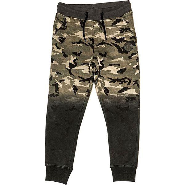51eb5c0e9fddb9 Spodnie dresowe w kolorze czarno-oliwkowym - Brązowe spodnie dresowe ...