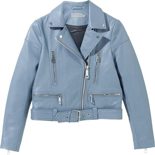 9feb5c2c3ee5c Skórzana kurtka w kolorze niebieskim - Niebieskie kurtki damskie ...