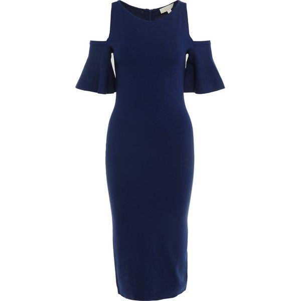 71df63207255b MICHAEL Michael Kors OFF SHOULDER DRESS Sukienka etui true navy -  Niebieskie sukienki damskie marki MICHAEL Michael Kors, z elastanu.