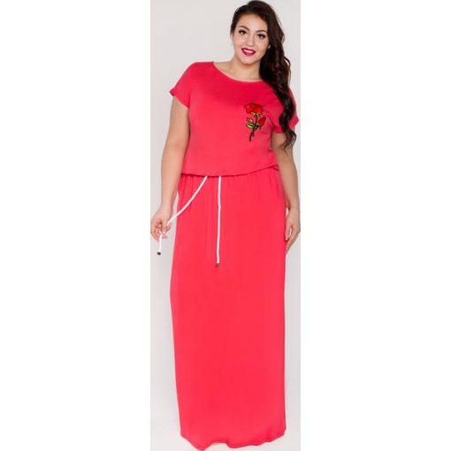 1f37176d Sukienka maxi długa z kieszeniami i sznurkiem oversize PLUS SIZE LATO