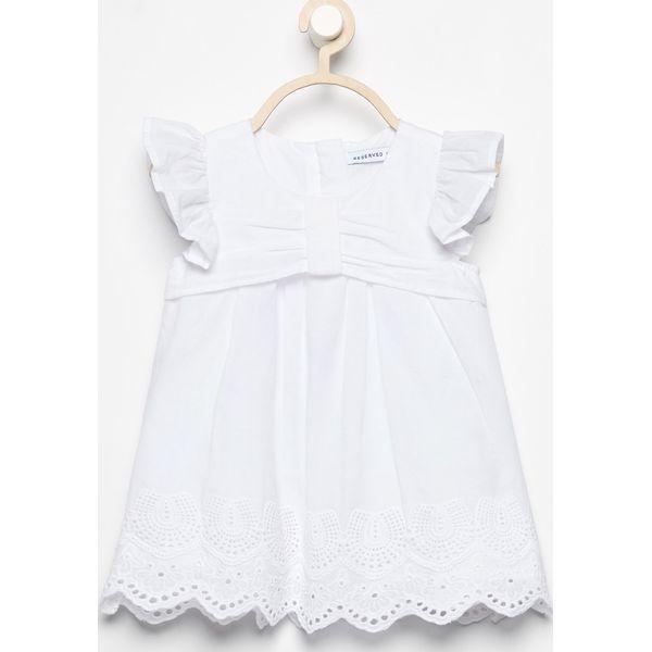 550195f838 Sukienka z ażurowym dołem - Biały - Białe sukienki niemowlęce marki ...