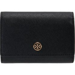 3aa32f879cb5b Tory Burch ROBINSON MEDIUM WALLET Portfel black / royal navy. Portfele  damskie marki Tory Burch ...