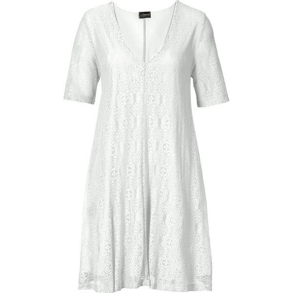 74e0e60402 Sukienka koronkowa bonprix biel wełny - Białe sukienki damskie marki ...