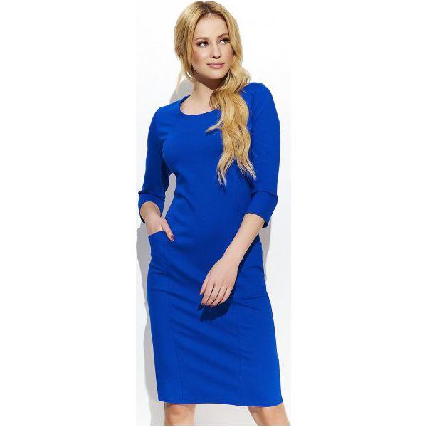 8449e962df Makadamia Sukienka Damska 44 Niebieska - Niebieskie sukienki damskie ...