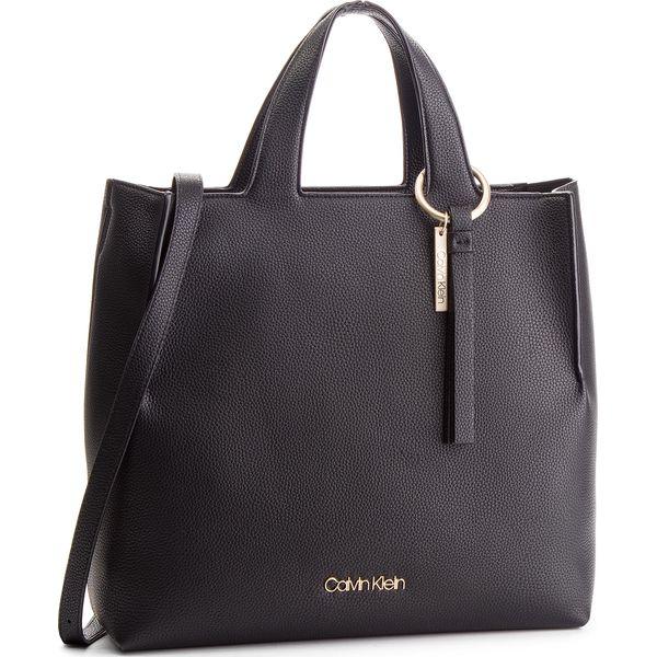 3a9db57554910 Torebka CALVIN KLEIN - Neat Shopper K60K604597 001 - Czarne shopper ...