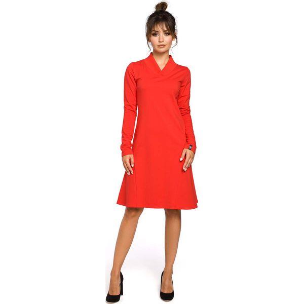 a9697e21de Czerwona Sukienka z Długim Rękawem - Czerwone sukienki damskie marki ...